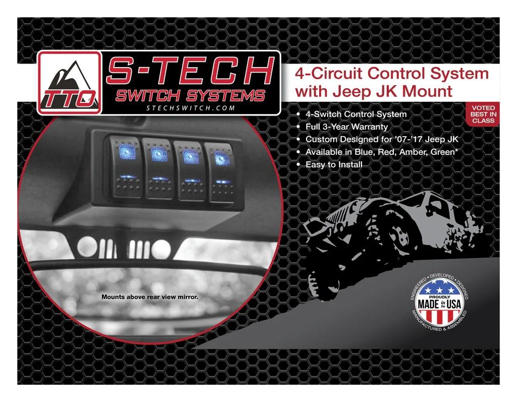 medium resolution of stech 4 switch system br jk housing br