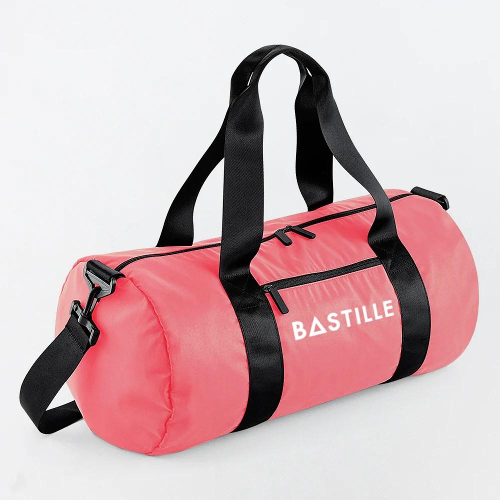 Bastille Logo Pink Gym Bag Accessories Eu