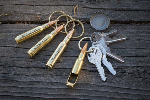 engraved bullet bottle opener