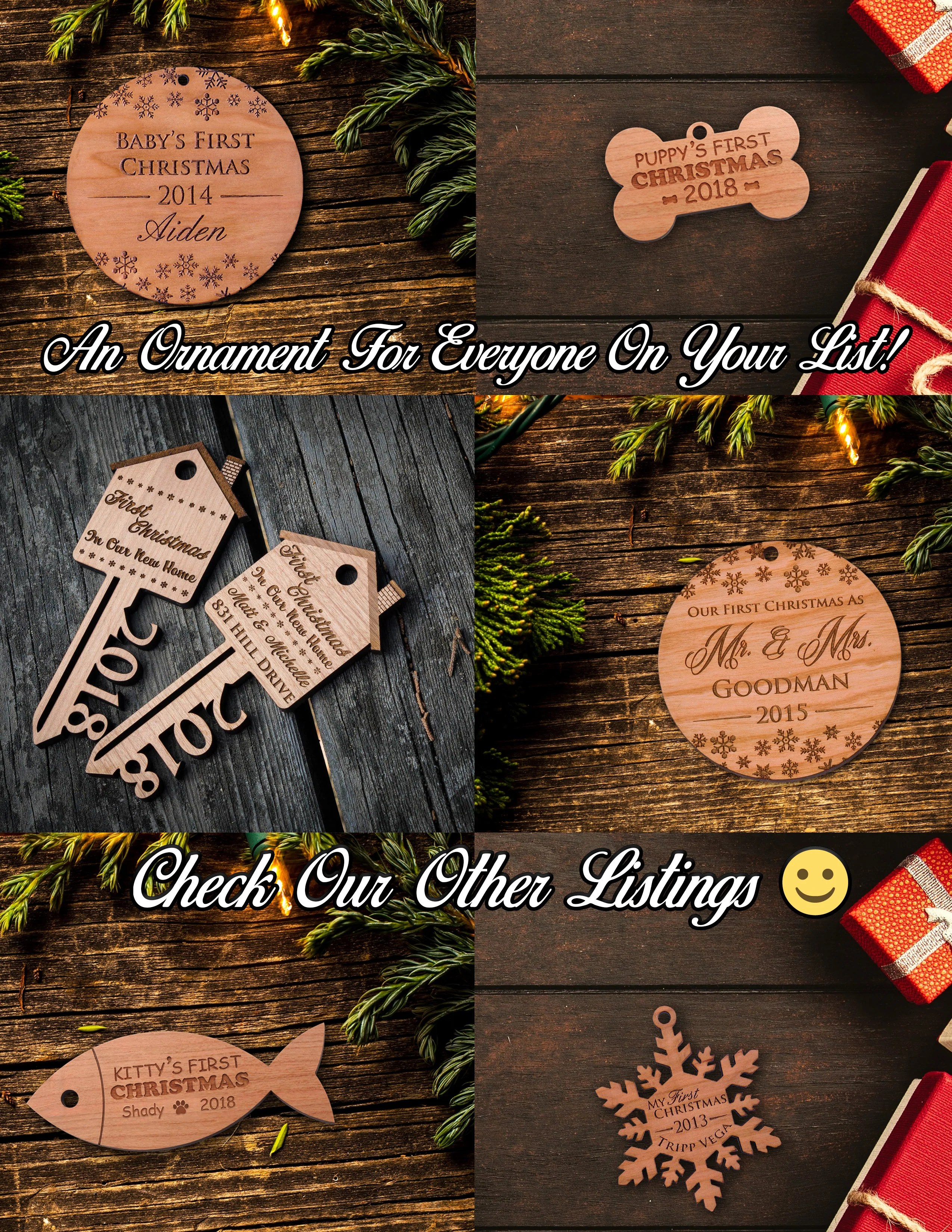 personalized ornaments custom holiday