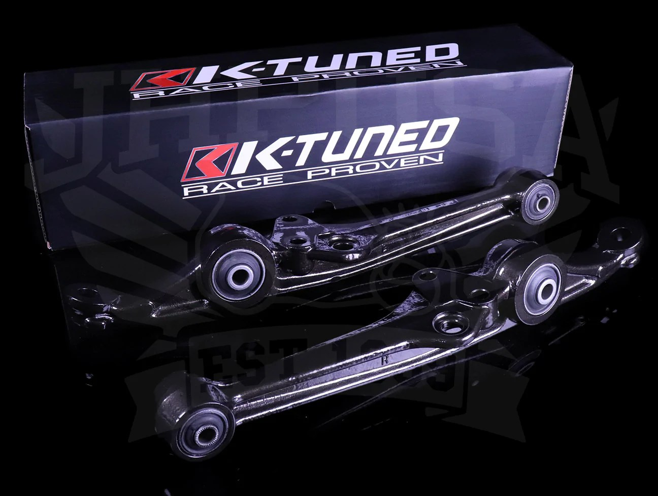 k tuned front lower control arms 88 91 civic crx [ 1296 x 976 Pixel ]