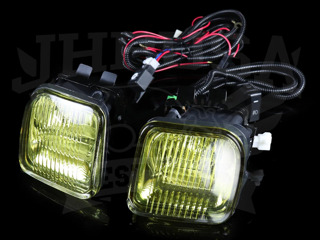 hight resolution of spec d tuning oem style yellow fog light kit 96 98 civic