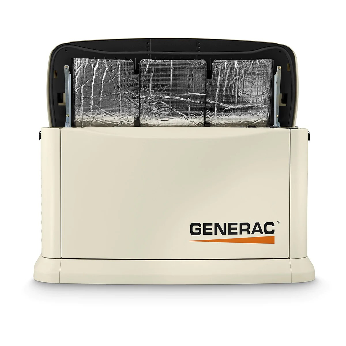 generac guardian 7043 22kw aluminum automatic standby generator with 200a se rated transfer switch [ 1200 x 1200 Pixel ]