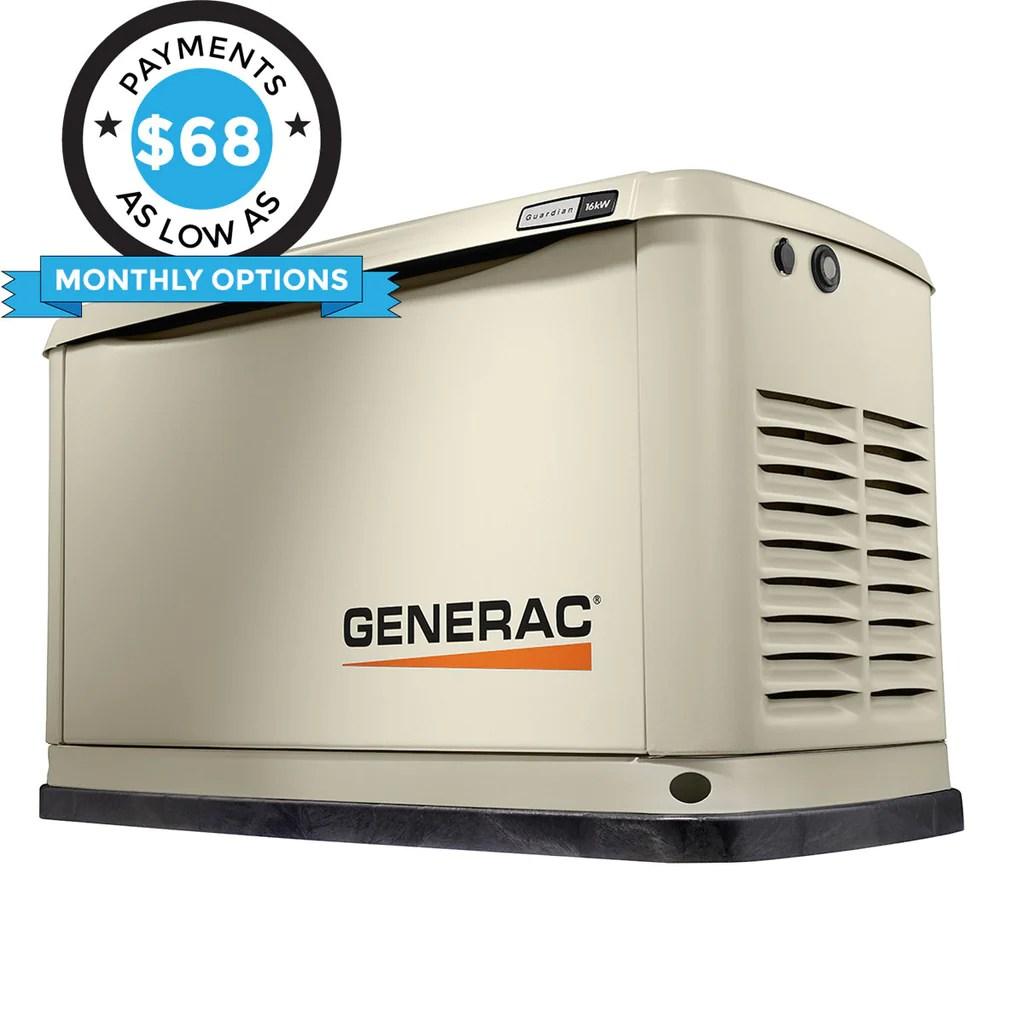 generac guardian 7035 16kw aluminum automatic standby generator [ 1024 x 1024 Pixel ]