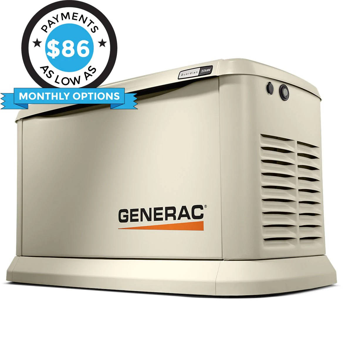 medium resolution of generac guardian 7042 22kw aluminum automatic standby generator