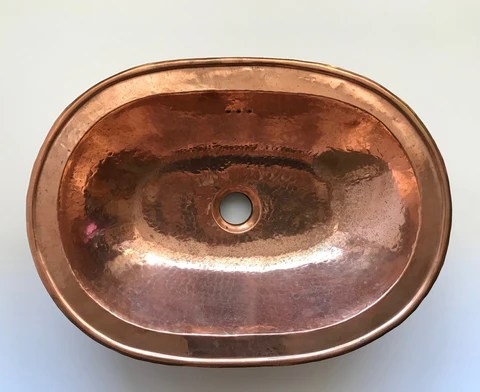 moroccan copper sink oval