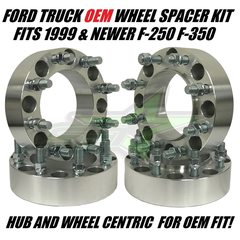 8x170 hub centric wheel spacers for ford f 250 f 350 super duty trucks set group usa [ 1024 x 1023 Pixel ]