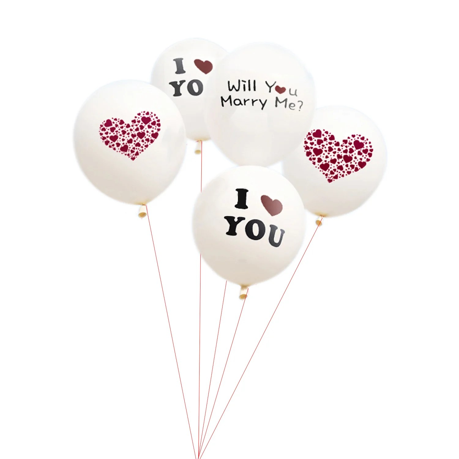 love heart balloons white