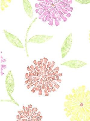 Brewster Zinnia Yellow Pink Coral Modern Floral Wallpaper Fd62116 Wallpaper For Less Murray