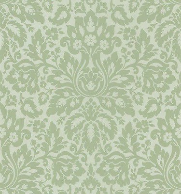 Beacon House Sage and Gold Aged Damask Wallpaper 58817