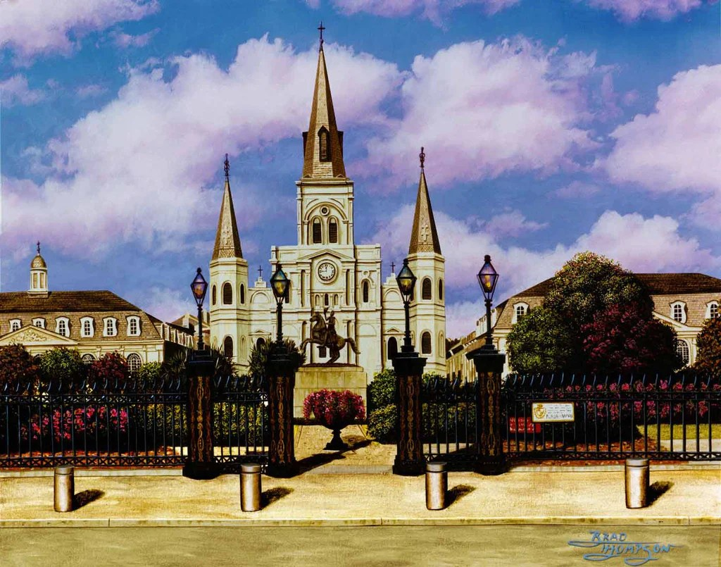 St. Louis Cathedral Brad Thompson Fine Art