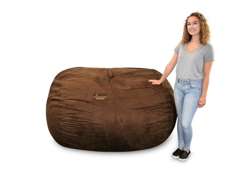 6 foot bean bag chair table top high foam filled lounger xorbee previous next