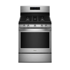 Kitchen Ranges Gas Cabinet Doors Home Depot Whirlpool 5 0 Cu Ft Freestanding Range With Fan Convection Cooking