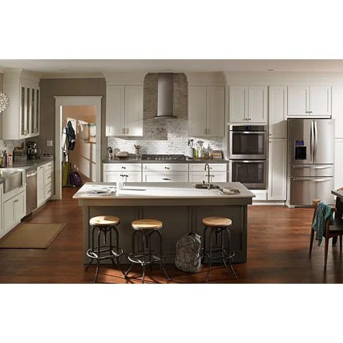 kitchen hood cabinets stores whirlpool 36 inch glass island with edge led lighting