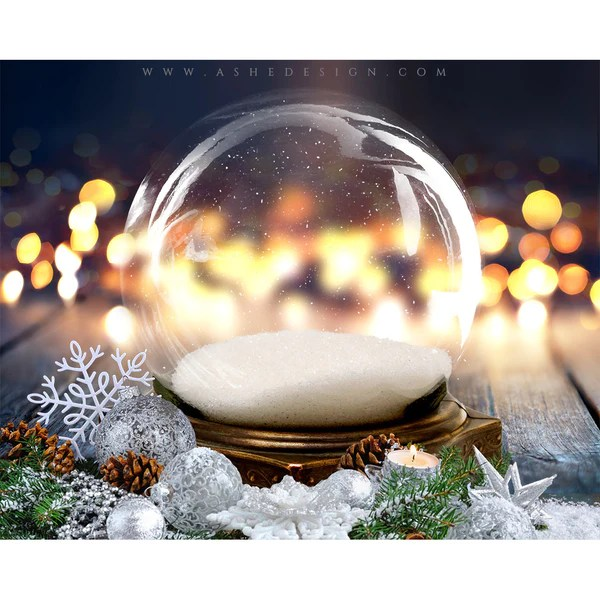Ashe Design Digital Backdrop Set 8x10 Twinkling Snow