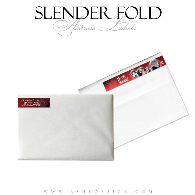 slender fold address label