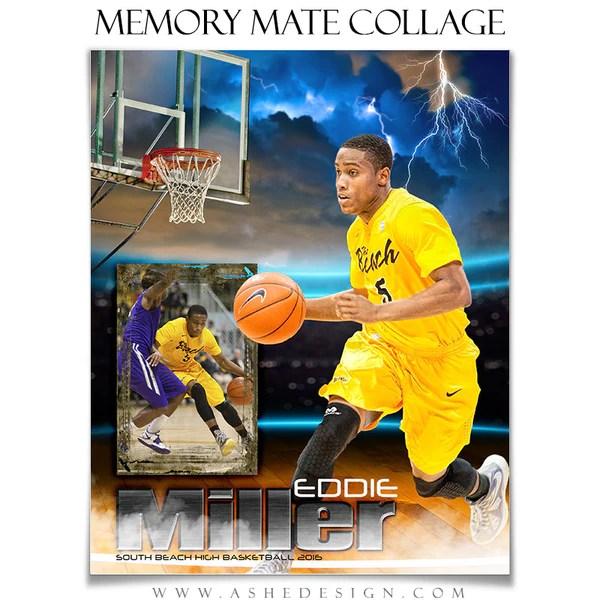 Sports Memory Mates 8x10 Lightning Strikes Basketball