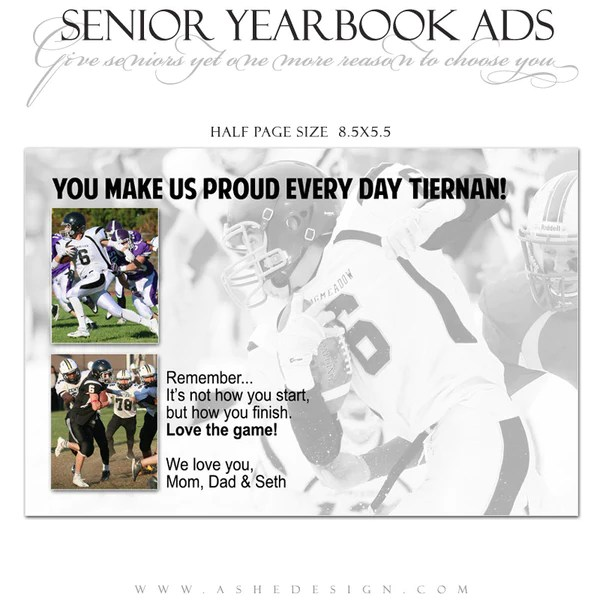 Senior Yearbook Ads For Photoshop Game Day AsheDesign