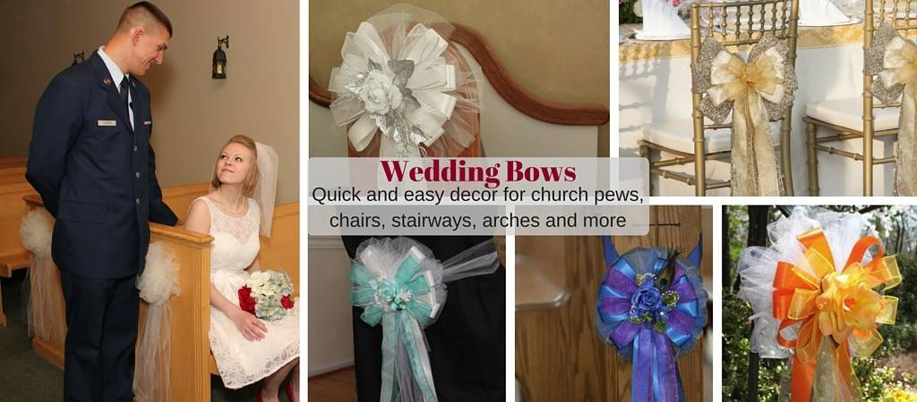 Wedding Bows and Church Pew Decorations  Package Perfect Bows