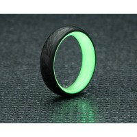 Green Carbon Fiber Glow Ring & Band