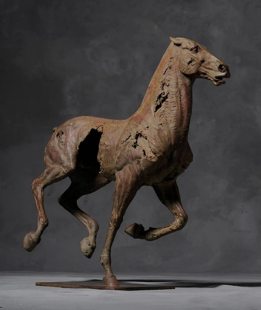 Cheval Iv Bronze Fine Sculpture Christophe Charbonnel