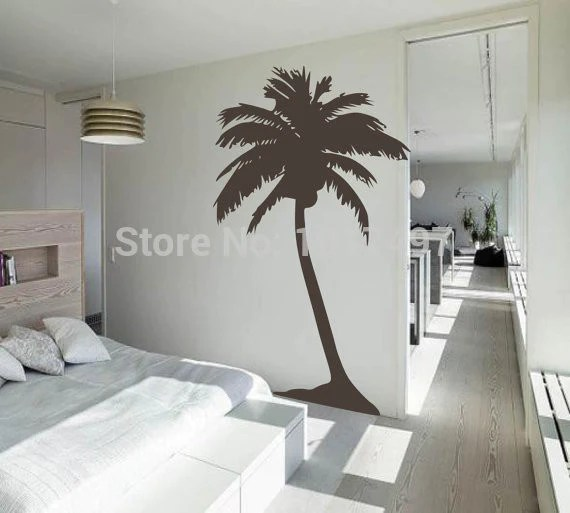 living room tree dog beds for new large palm wall sticker tropical art house decoration tall