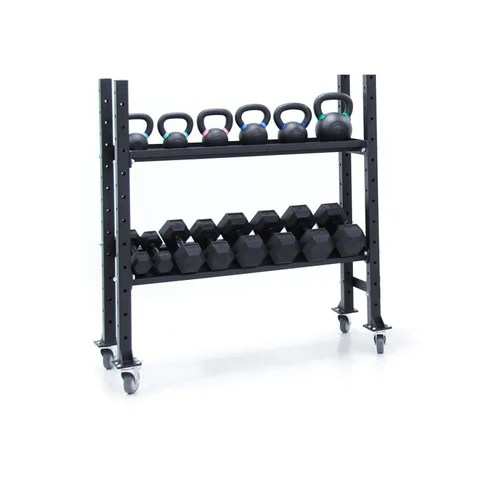 xtreme monkey 2 tier kettlebell dumbbell storage rack