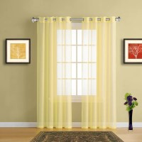 Sheer Window Curtains with Grommet Top in 19 colors tagged ...