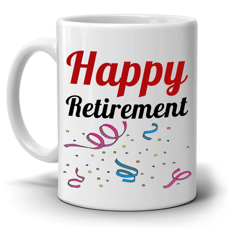 happy retirement gifts mug