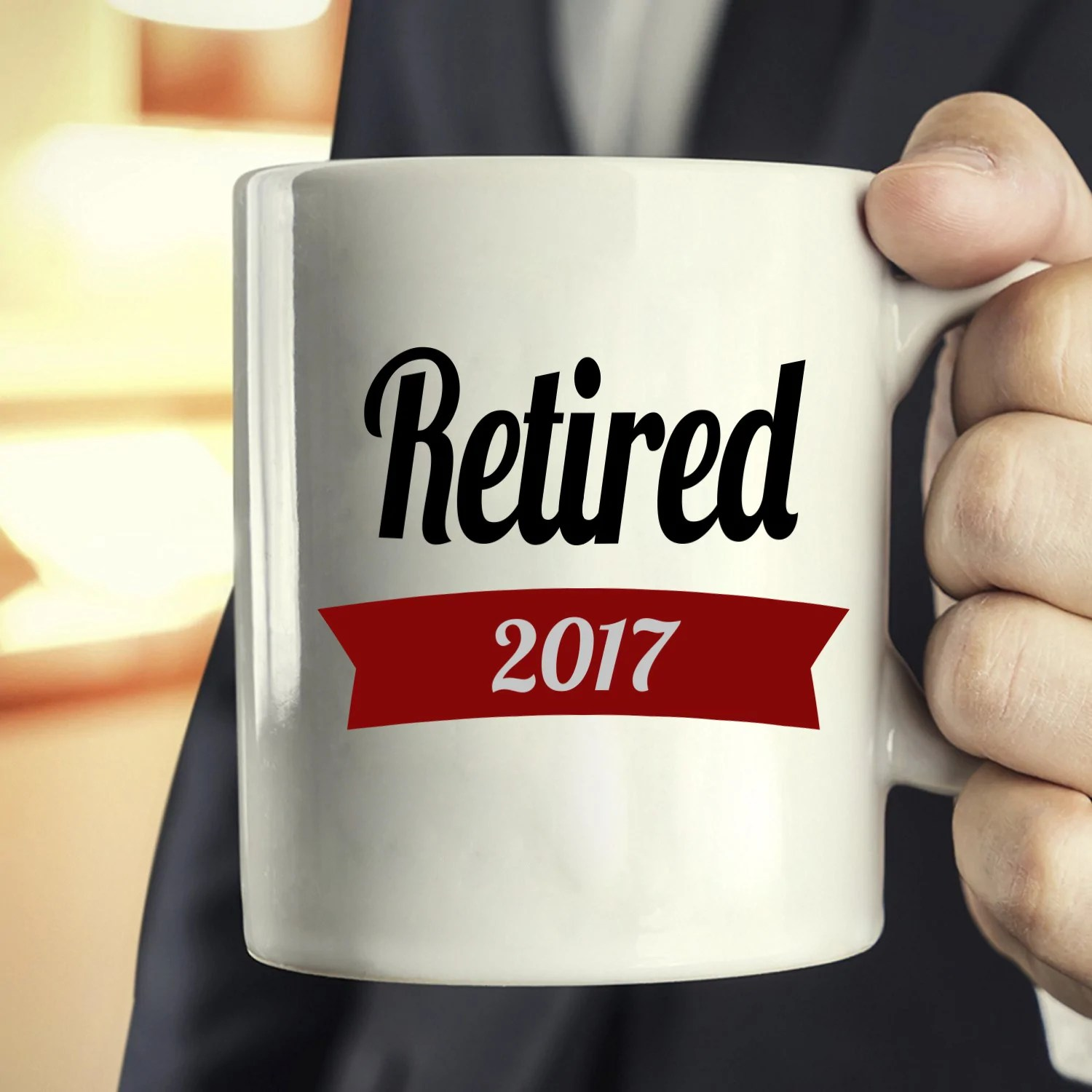 personalized retired 2017 coffee