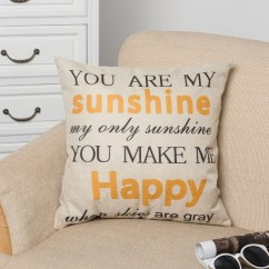 Pillow Covers For Living Room Futon Couch Decorative Home Cotton Linen Case Cover Chair Seat Waist Throw Cushion English Letters