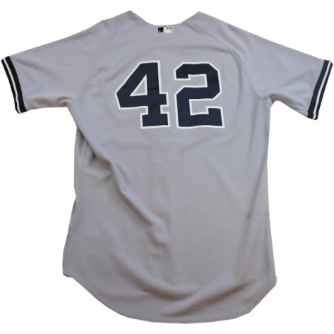 b2167dd5536 Mariano Rivera Jersey - NY Yankees Game Worn #42 Grey Jersey (46)  (FJ747916) ...