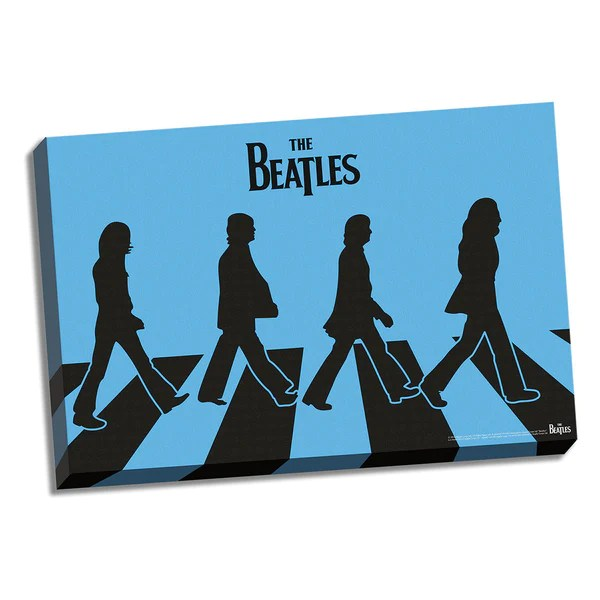 the beatles blue silhouette