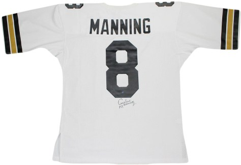 Archie Manning Signed Authentic 1971 White New Orleans Saints Mitchell and  Ness Jersey (Signed Below Number) ... 557a95404