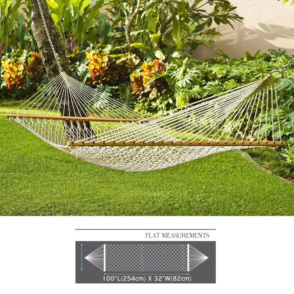 single person hammock chair swivel large cotton rope hanging