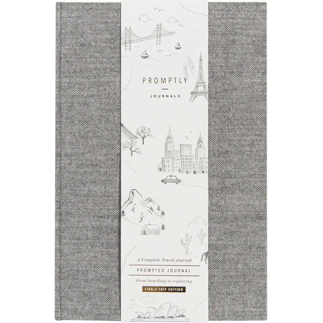 Travel Journals - Grey Tweed.