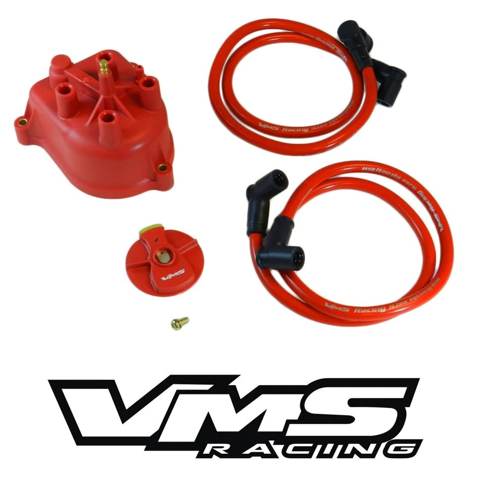 hight resolution of distributor cap modified for external coil 97 01 honda crv red brass terminals
