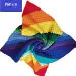 Rainbow C2c Blanket Crochet Pattern Rainbow Baby Blanket Crochet Pat My Fingers Fly
