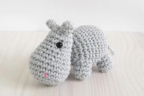 free pattern small hippo