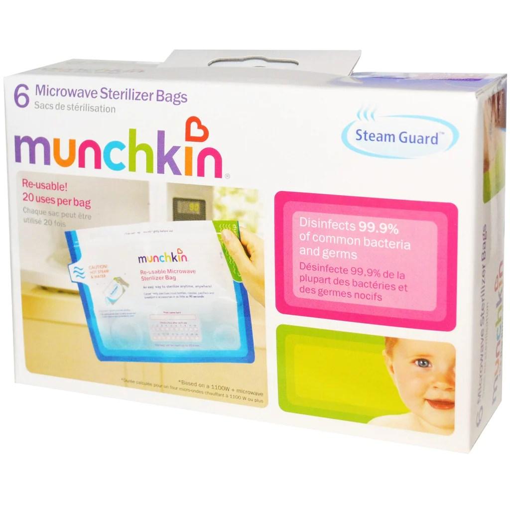 munchkin steam guard microwave sterilizer bags 6 pack