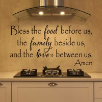 Bless The Food Before Us Wall Decal  Create & Ship