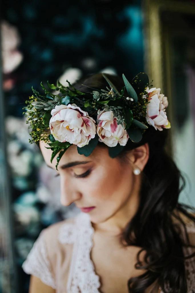 boho wreath romantic flower