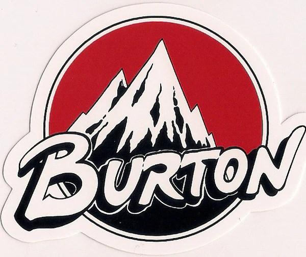 Burton Snowboard Sticker Backhill Vintage Red 3x25 21