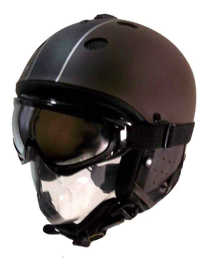 Goggles Under Helmet : goggles, under, helmet, Adjustable, Snowboard, Brown, Black, Helmet, White, Goggle, Winter, Warehouse