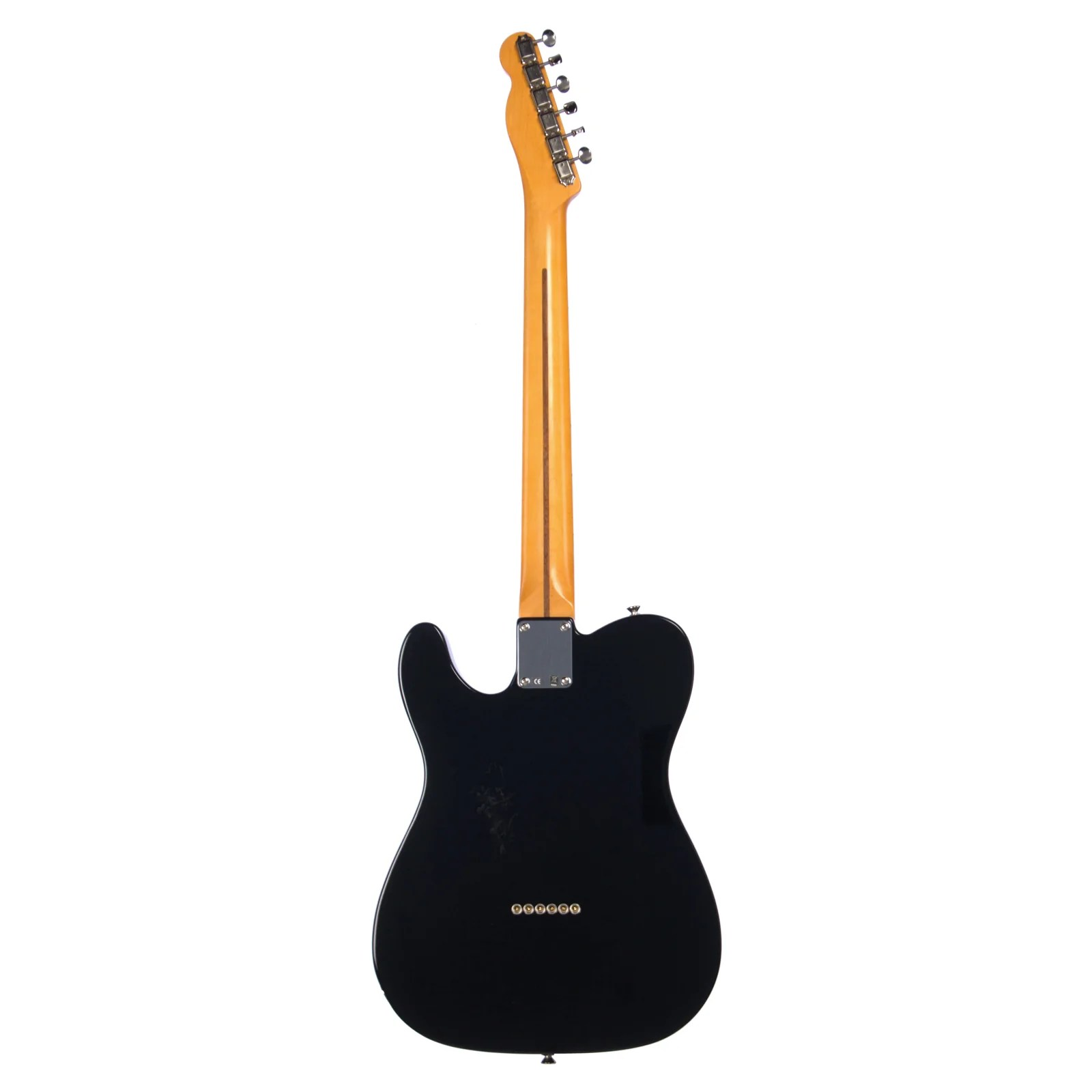 used fender vintage hot rod 52 telecaster black electric guitar made in [ 1600 x 1600 Pixel ]