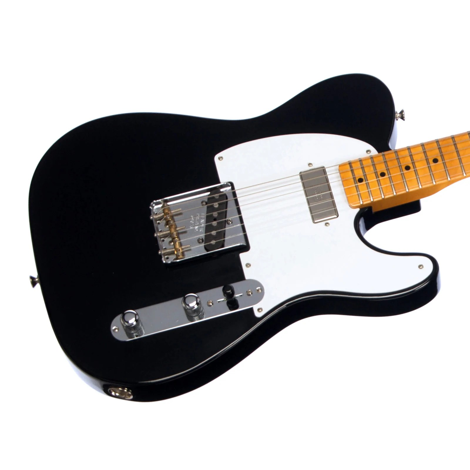 used fender vintage hot rod 52 telecaster black electric guitar american vintage ri 3952 telecaster loaded control plate jack wiring [ 1600 x 1600 Pixel ]