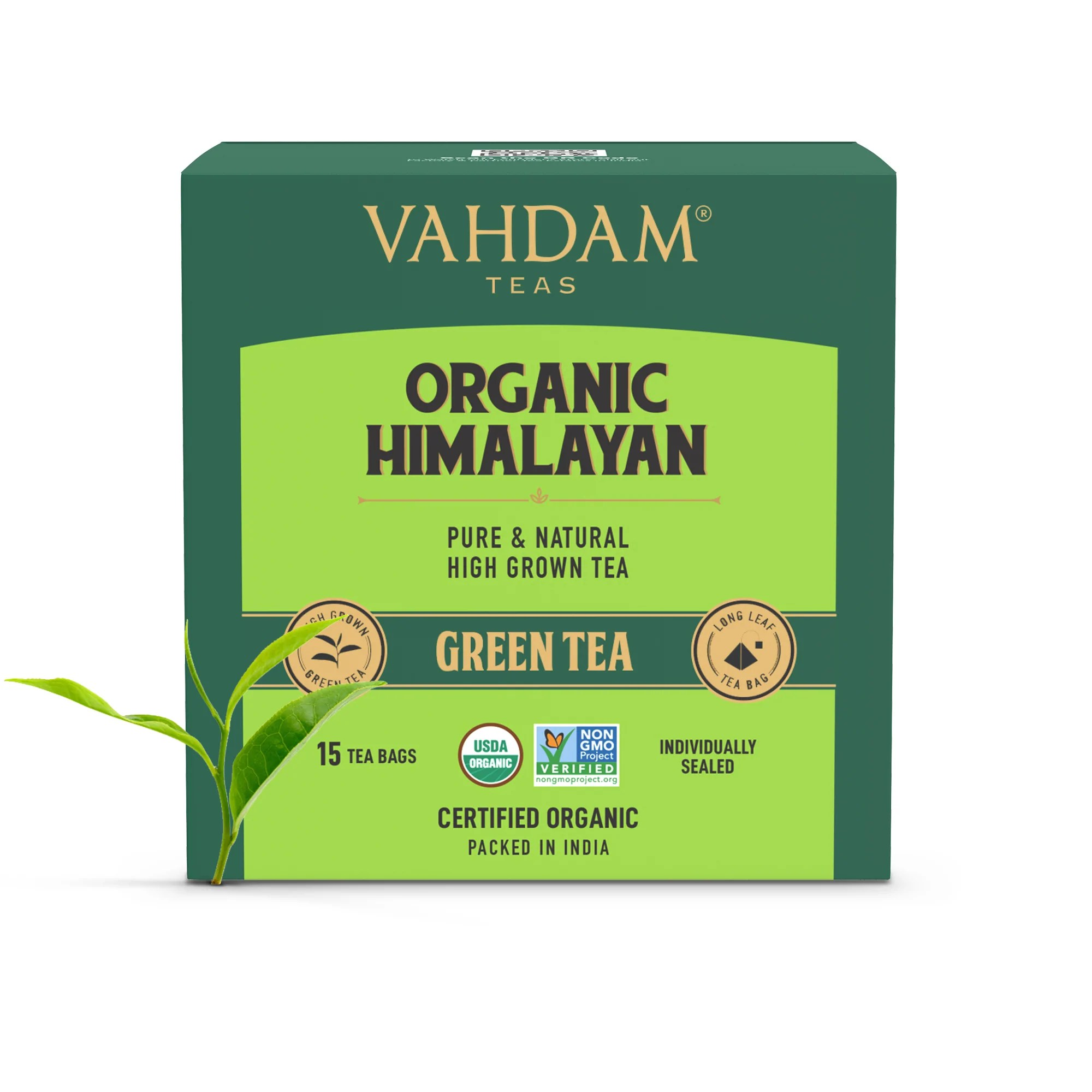 Organic Himalayan Green Tea - 15 Tea Bags- VAHDAM® India