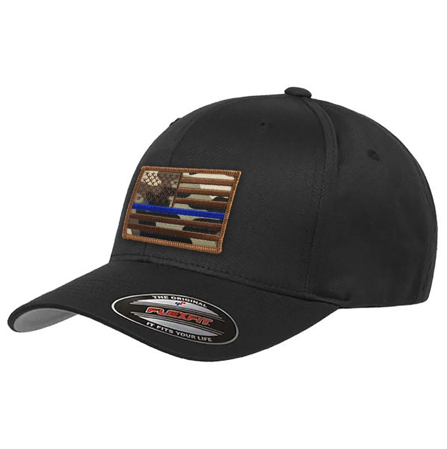 23f4e0bc964 Thin Blue Line And Red Flag Hats - imgUrl