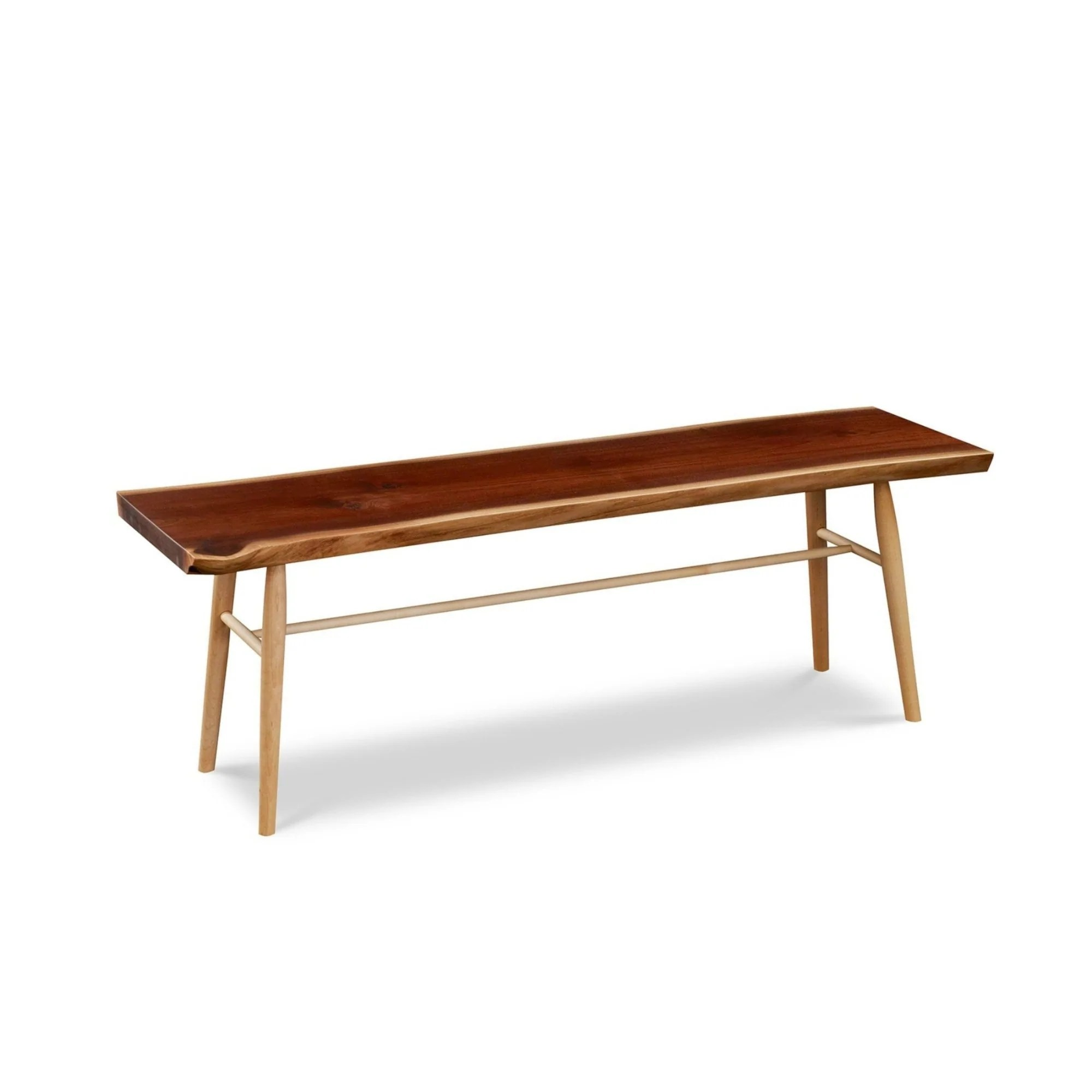 live edge slab coffee table or bench
