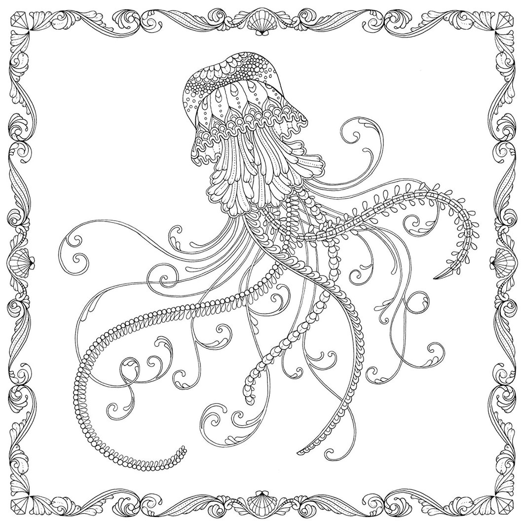 Lost Ocean An Inky Adventure Amp Coloring Book Coloring